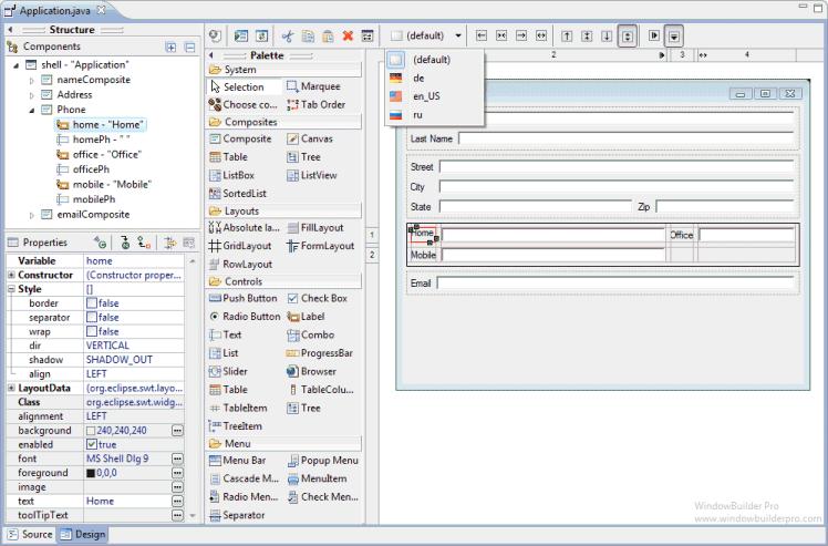 Java GUI designer