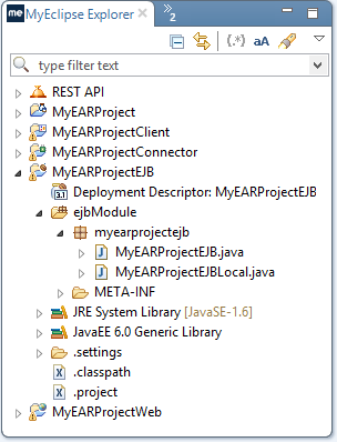 EJB development - project structure