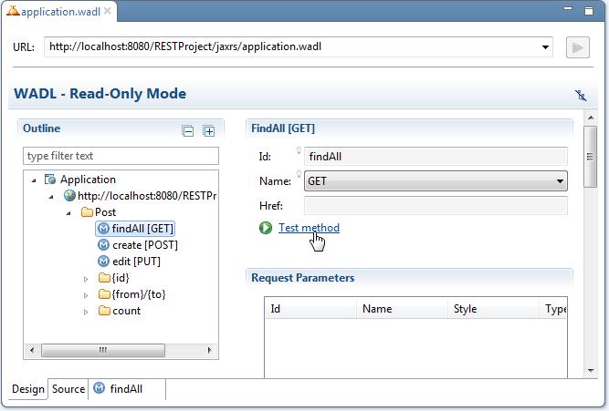 REST web service development - testing