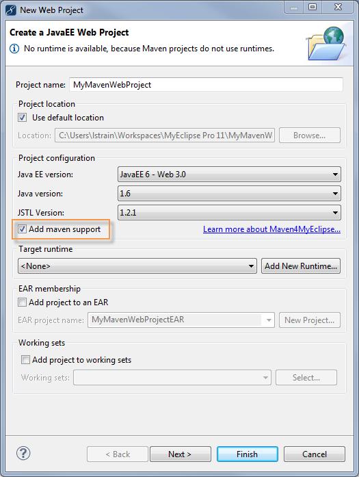 Maven project - Add Maven Support Checkbox