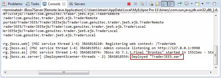Java EE enterprise application deployment