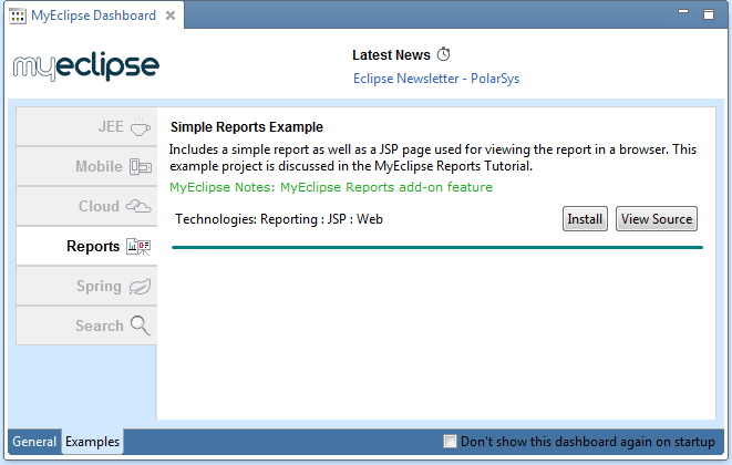 Enterprise reporting tools - examples on deman