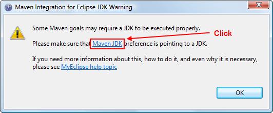 Maven tips - add JKD warning