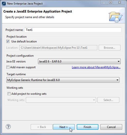 Java EE enterprise application project