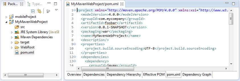 Maven project POM