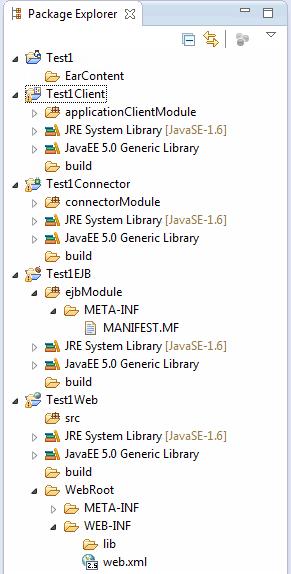 Java EE enterprise application structure