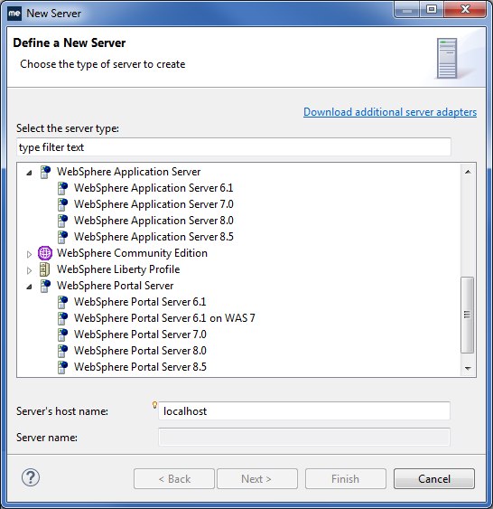 WebSphere IDE - WebSphere versions