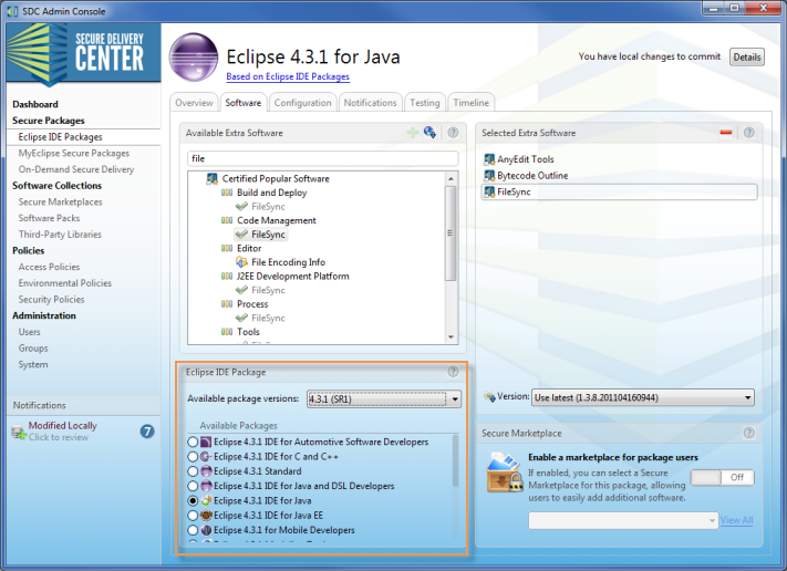 eclipse_package_software_tab