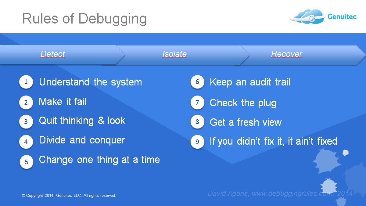 debugging rules