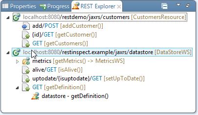 REST web service development - REST explorer