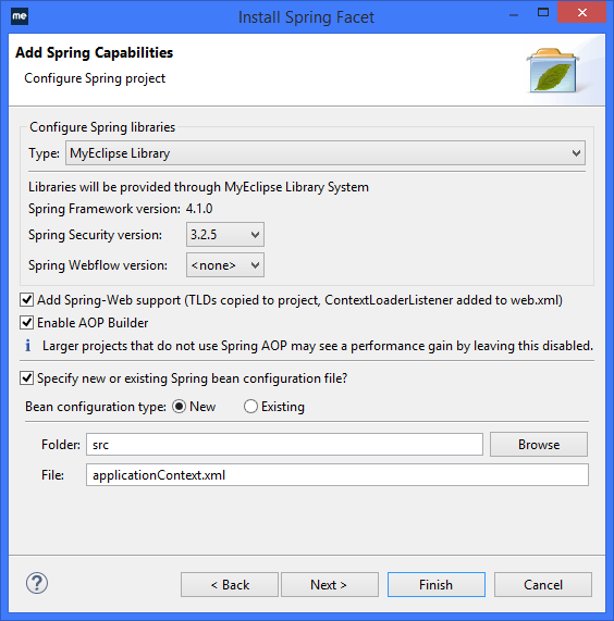 Spring IDE - Spring capabilities