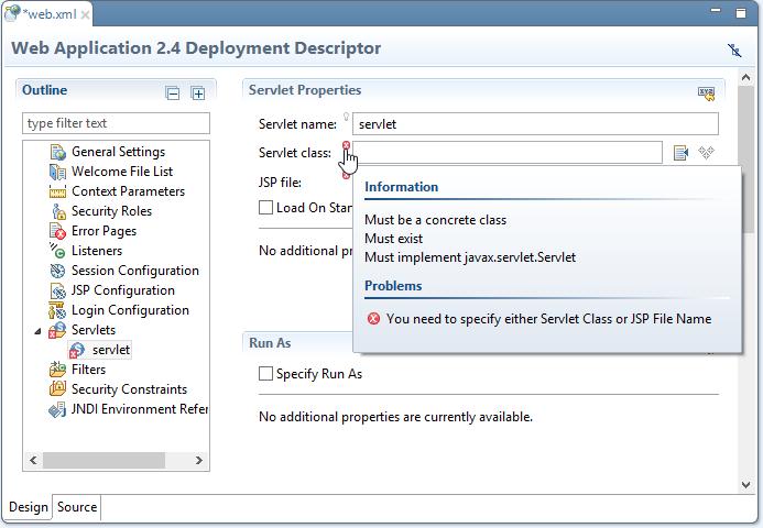 Java EE IDE - form-based configuration
