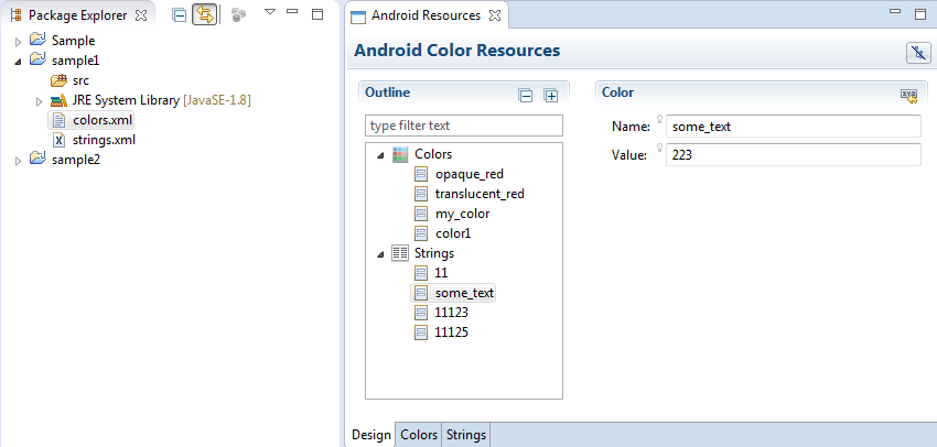 Eclipse Sapphire Editor Example