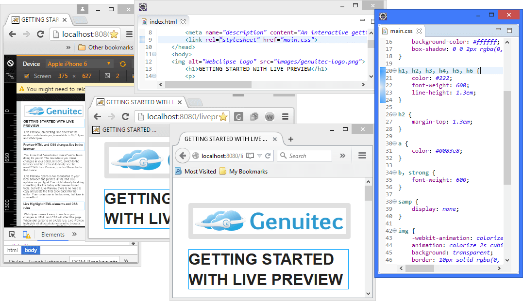 Enterprise Web IDE-Live Preview