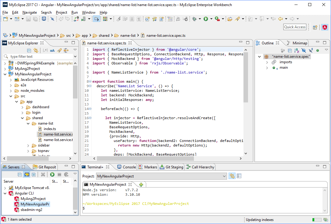 Java IDE for web development
