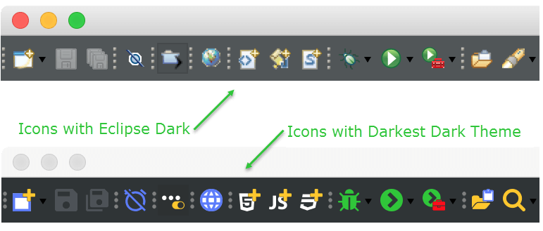 Darkest Dark Icon Comparison