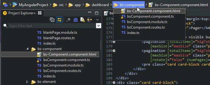 Breadcrumb toolbar
