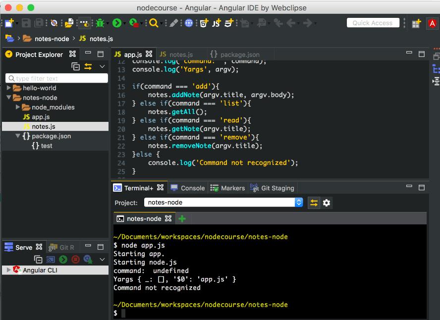 nodecourse-angular-ide