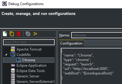 React Tutorial: Debug Configurations