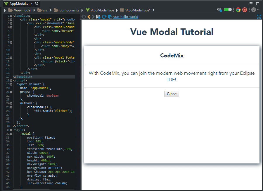 Vue Modal in Action